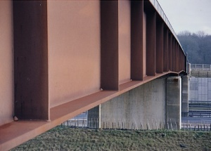 a series of cope holes a34m4 junction 13 chieveley weathering steel