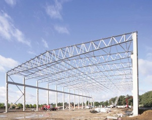 long span roof trussjpg - Metal Roof Trusses