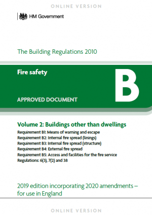 Structural fire resistance requirements for Construction rules and regulations