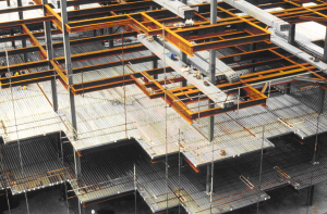 Fig 4 Decking being laid out on a steel frame.png