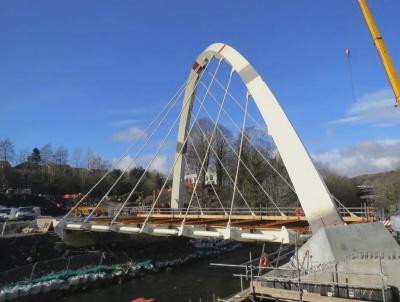 River taff central link bridge merthyr tydfil for In home design merthyr