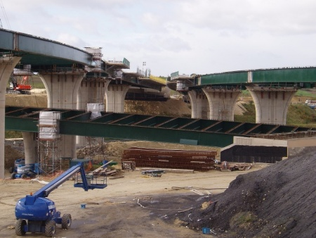 Design for steel bridge construction for Construction info