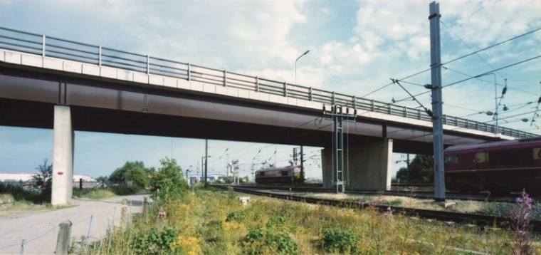 A6182 bridge over ECML.jpg
