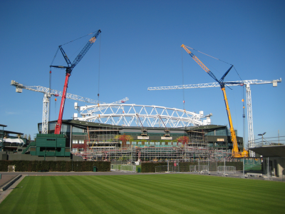 Wimbledon centre court redevelopment london for Construction info